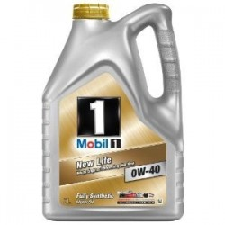 Mobil 1 New Life 0W40 Fully Synthetic Motor Oil 5L